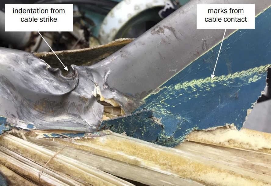 Tail Rotor Blade (TRB) Damage on Way To Go Heliservices' Airbus Helicopters AS350BA ZK-HKW (Credit: TAIC)