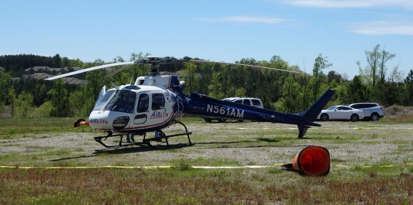 AMC Airbus AS350B2 N561AM (Credit: FAA via NTSB)