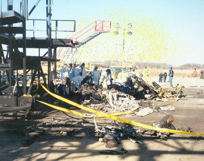 Crash Site of Air Midwest  Flight 5481, Beechcraft B1900D N233YV (Credit: NTSB)