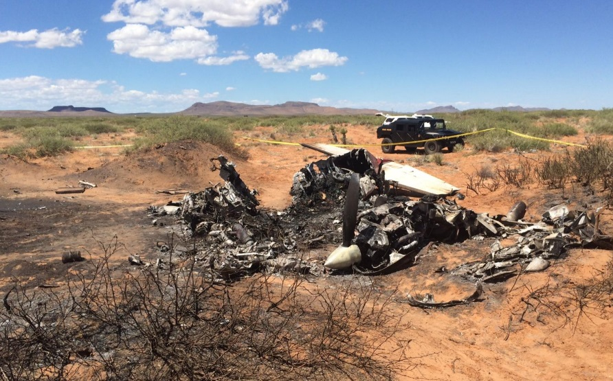 Cessna 421C Golden Eagle N51RX Wreckage at Las Cruces, NM (Credit: NTSB)
