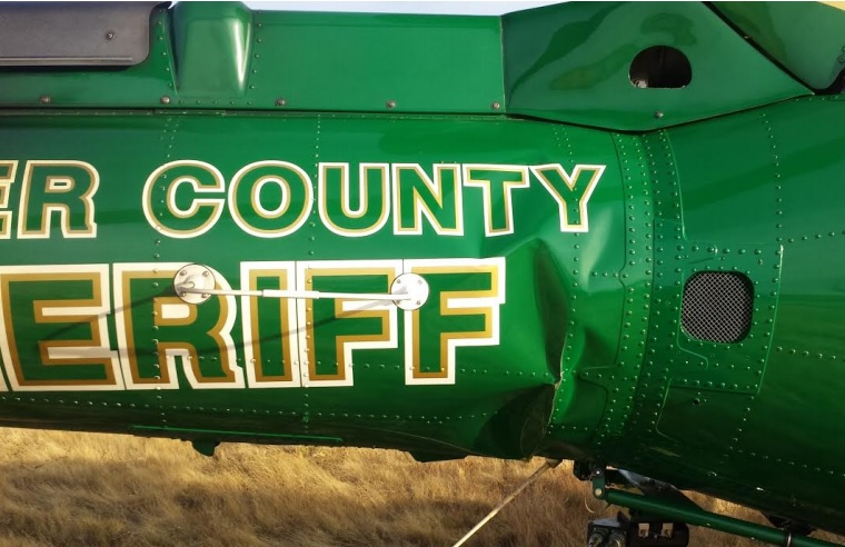 Damage to Placer County Sheriff's Dept Airbus Helicopters AS350B3 N911WL (Credit: NTSB)