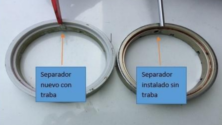 MD-11 Nose Wheel Seperators, With and Without Locking Pins (Credit: JIACC)
