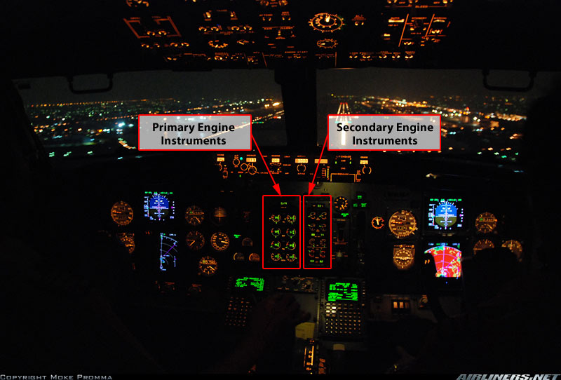 B737-400 Engine Instrument System (EIS) (Credit: FAA)