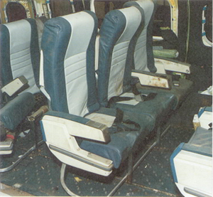 Mid Cabin 16g Seats from British Midland B737-400 G-OBME, Kegworth 8 January 1989 (Credit: AAIB)
