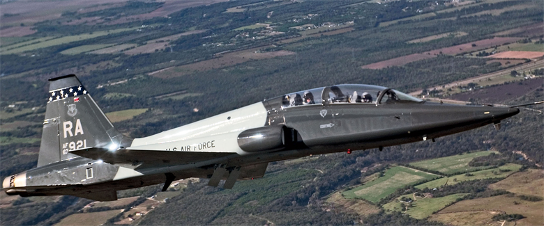 USAF Northrop Grumman T-38C Advanced Trainer from Lacland AFB, TX (Credit: USAF Master Sgt Lance Cheung)