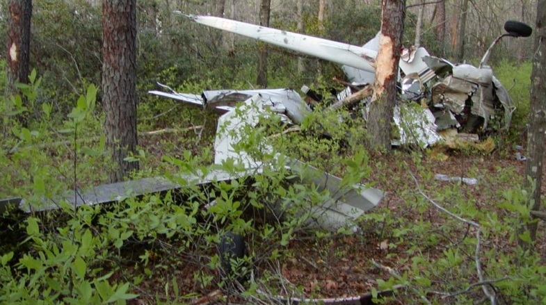 Wreckage of Survey Cessna C337 N5382S (Credit FAA via NTSB)