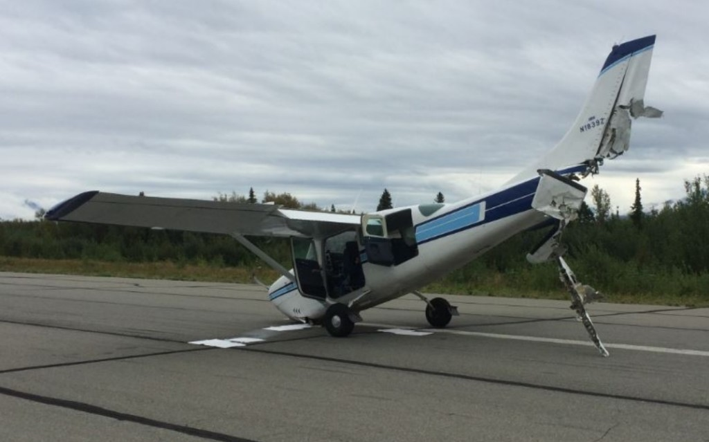 Cessna C210 N1839Z after a Mid Air Collision (Credit: FAA)
