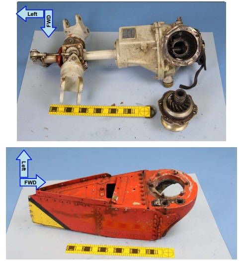 Components of Tamarack Helicopters Bell UH-1H N175SF Sent for NTSB Lab Examination (Credit: NTSB)