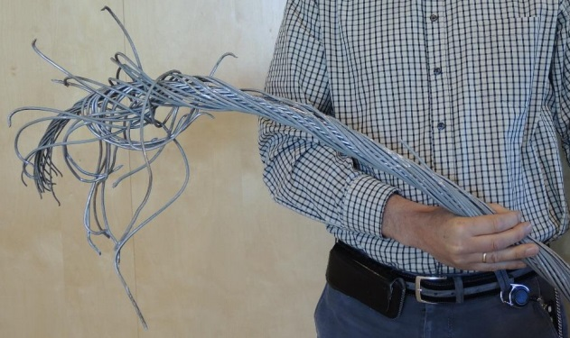 One of the severed cabled (Credit: AIBN)