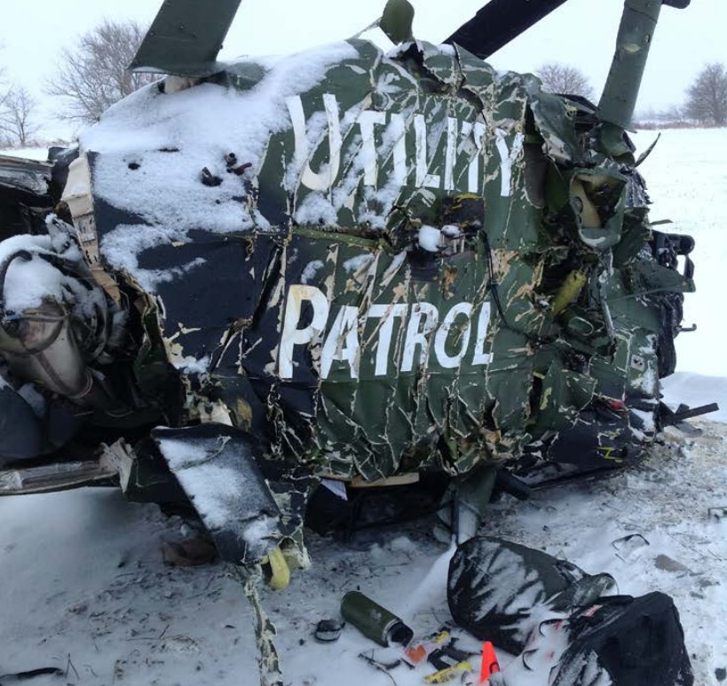 Wreckage of Vista One MD369 N4QX (Credit: NTSB)