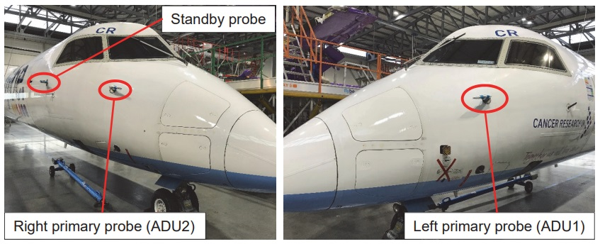 DHC Dash 8 Q400 Pitot Static Locations (credit: AAIB)