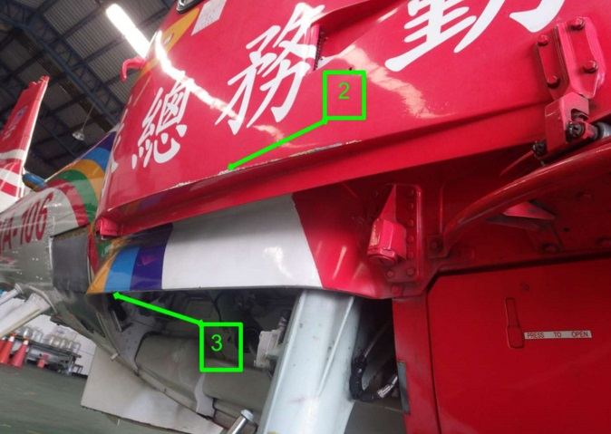 NASC AS365N3 NA-106 Damaged Doors (Credit: TTSB)