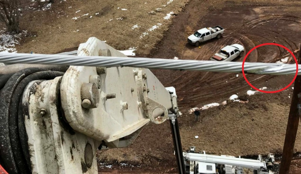 'Blemish' on Wire (Credit: Didado via NTSB)