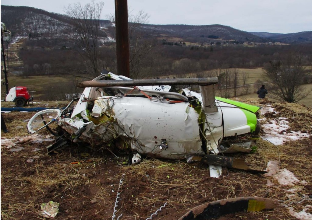 Wreckage of High Line Helicopters MD Helicopters MD600N N602BP (Crediit: NTSB)