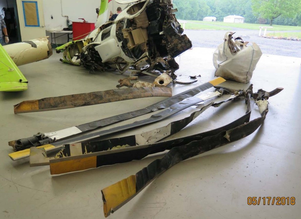 Wreckage of High Line Helicopters MD Helicopters MD600N N602BP Recovered for Inspection (Crediit: via NTSB)