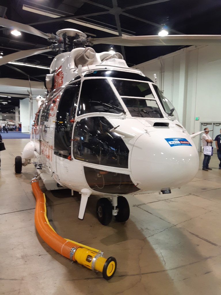 The Former Bristow AS332LG-TIGV now a Firecat for FireFighting for Coldstream Helicopters