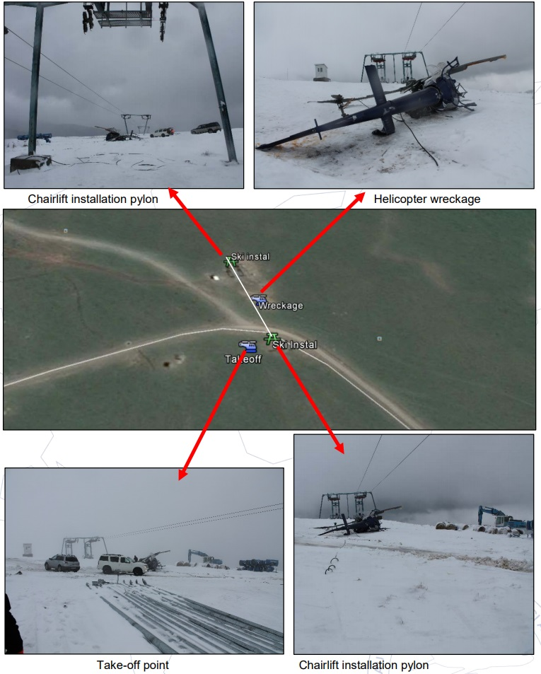 Dunca Expeditii Airbus Helicopters AS350B3 YR-DEX Accident Site (Credit: AIAS Romania)