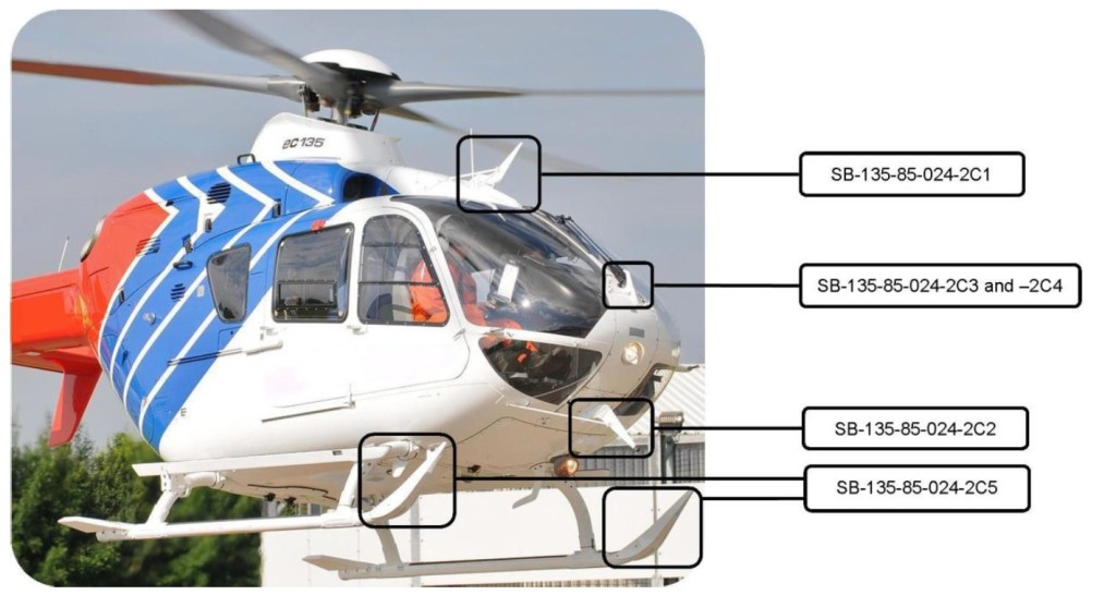 EC135 Wires Strike Protection System (WSPS (Credit: Airbus via AIBN)