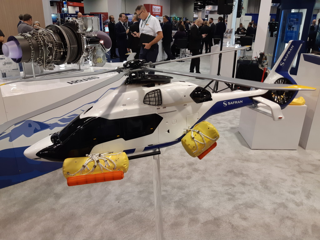 Safran Model of Airbus H160 with Floats Deployed