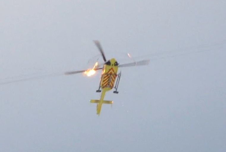 Norsk Luftambulanse Airbus Helicopters EC135P2+ LN-OOI MRB Strikes Wire: (Credit: via AIBN)