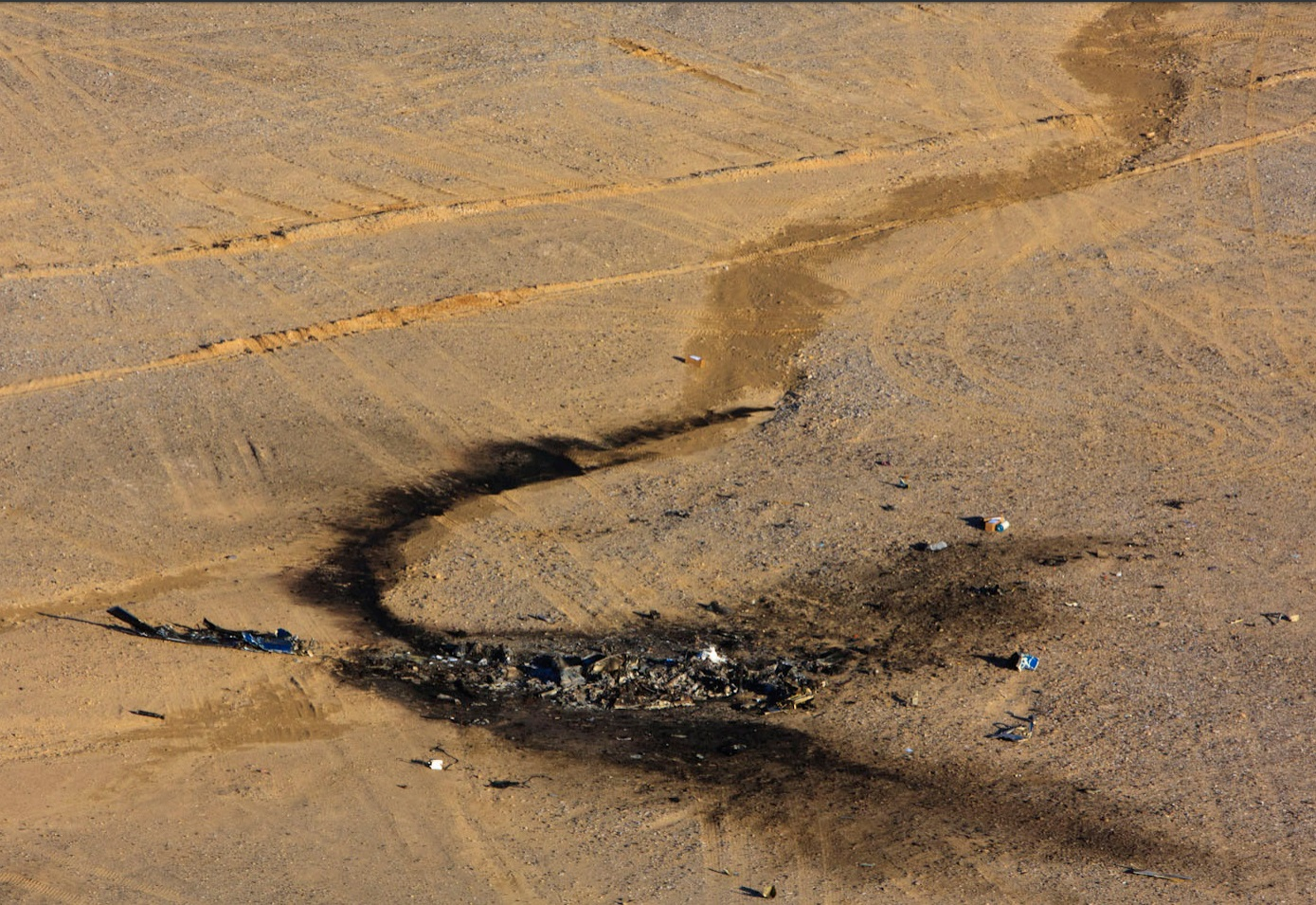 Wreckage of AAR Airlift Bell 214ST B5748M in Helmand (Credit: DOD via NTSB)