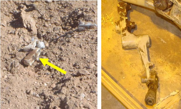 The Right Collective Lever as Found (Credit: DOD via NTSB)