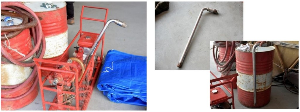 Fuel Pump and Hose - Photographed Later (Credit: AAIB Malaysia)