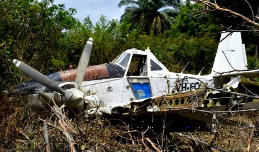 Wreckage of Turbine Dromader M18A VH-FOS (Credit: AAIB Malaysia)