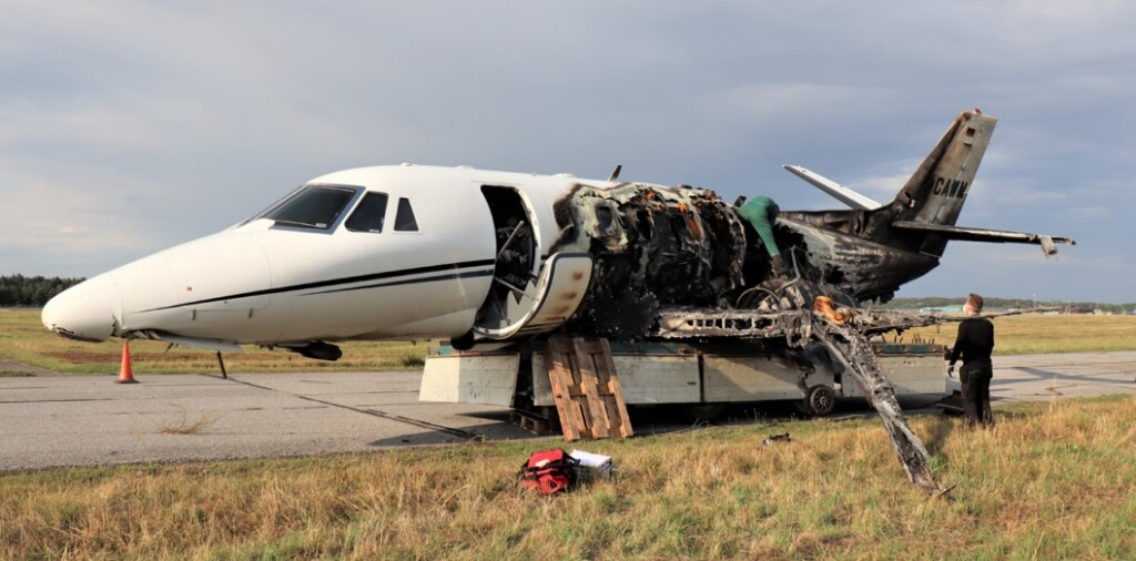 Wreckage Recovery - Cessna 560 XLS+ D-CAWM of Aerowest at Aarhus (Credit: AIB Denmark)