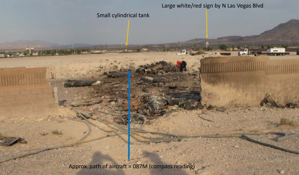 Accident Site - Draken International Douglas TA-4K Skyhawk  near Nellis AFB (Credit: NTSB)