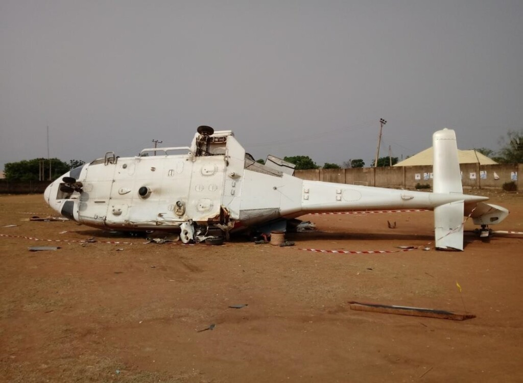 Caverton Helicopters Leonardo AW139 5N-CML at  Kabba, Kogi State (Credit: AIB Nigera)