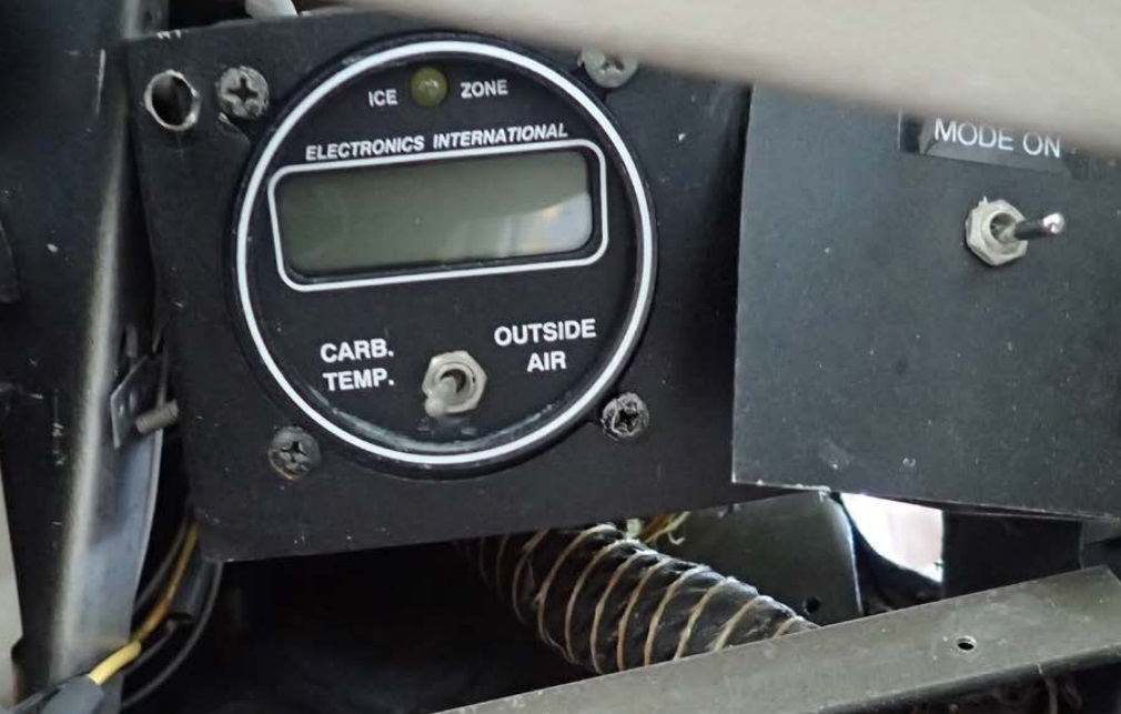 Carburettor Temperature System C152 N24515 (Credit: NTSB)