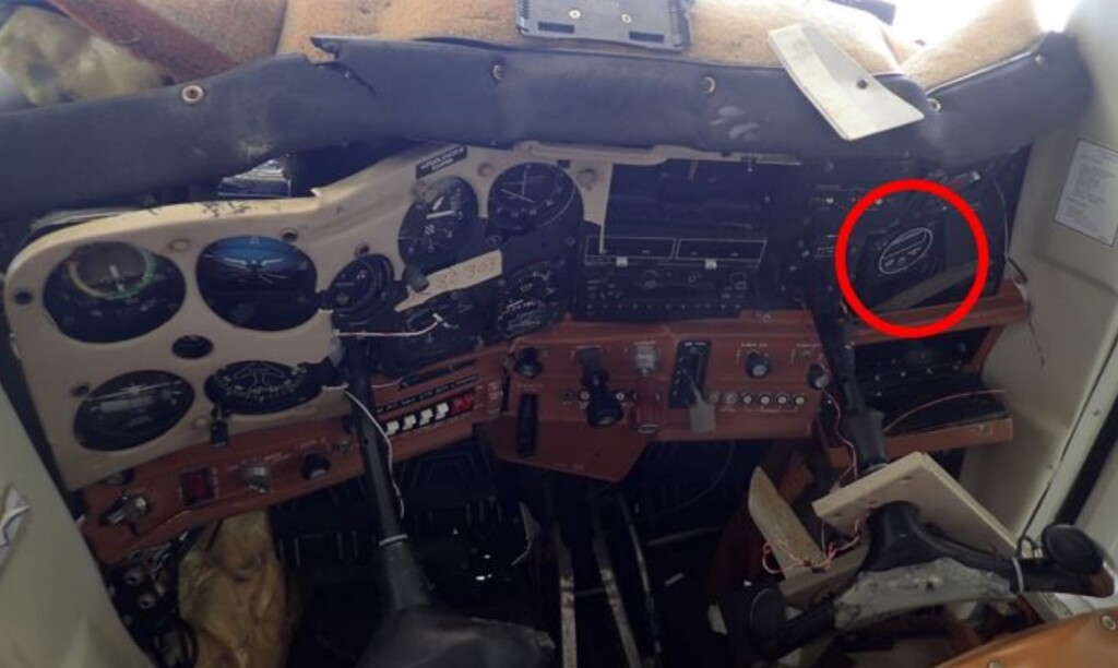 Location of Carburettor Temperature System C152 N24515 (Credit: NTSB)