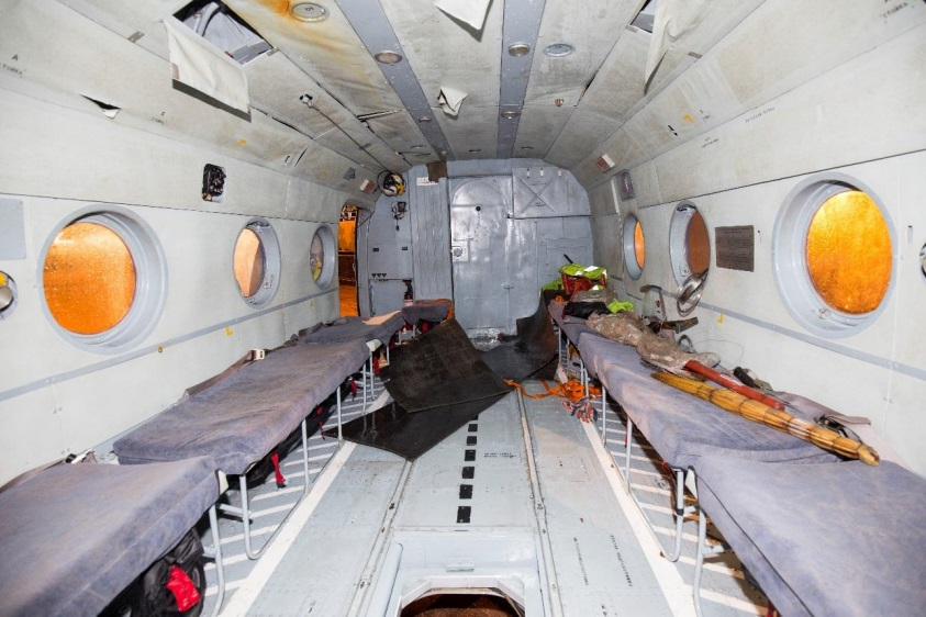 Forward Cabin of Mil Mi-8AMT RA-22312 of Convers Avia in Svalbard (Credit: Police via AIB Norway)