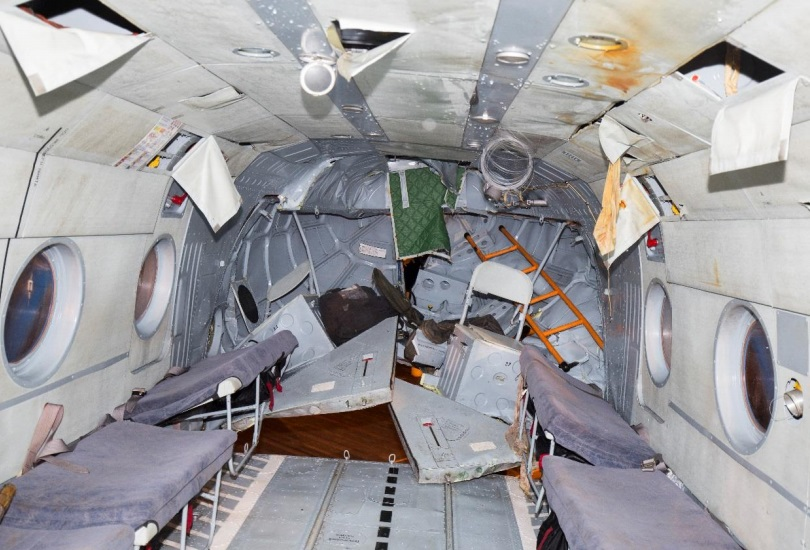 Rear Cabin of Mil Mi-8AMT RA-22312 of Convers Avia in Svalbard (Credit: Police via AIB Norway)