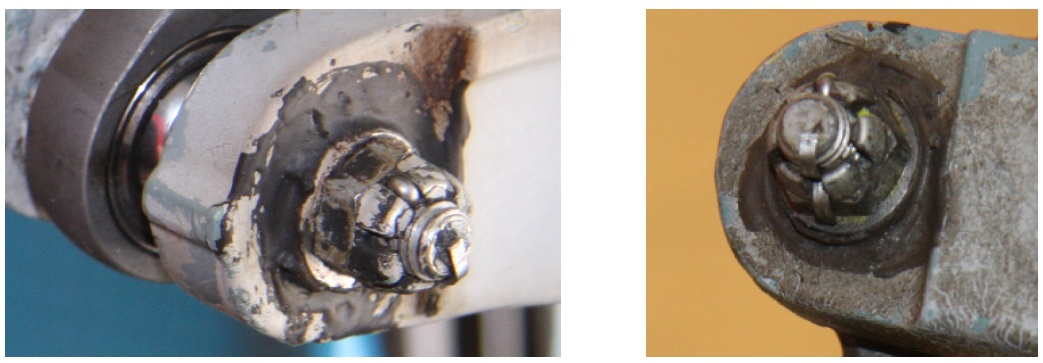 Exemplar Bolt / Nyloc Nut with Cotter Pin Fitted (Credit: BFU)