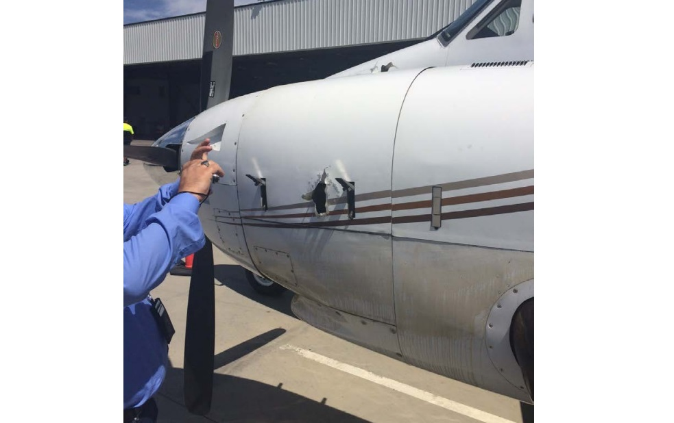 Beech King Air 100 N6756P TPE331 Uncontained Failure Damage (Credit: NTSB)