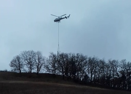 Airplus Hélicoptères Airbus AS350B3 F-GKMQ Filmed Just Prior to the Accident (Credit: BEA)