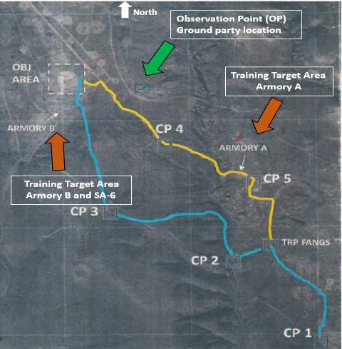 Layout of Target and Ground Op at the Red Rio Range, WSMR (Credit: USAF AIB)