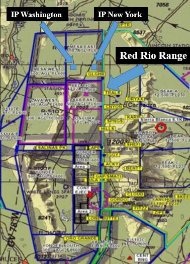 Red Rio Range within the White Sands Missile Range, New Mexico (Credit: USAF AIB)