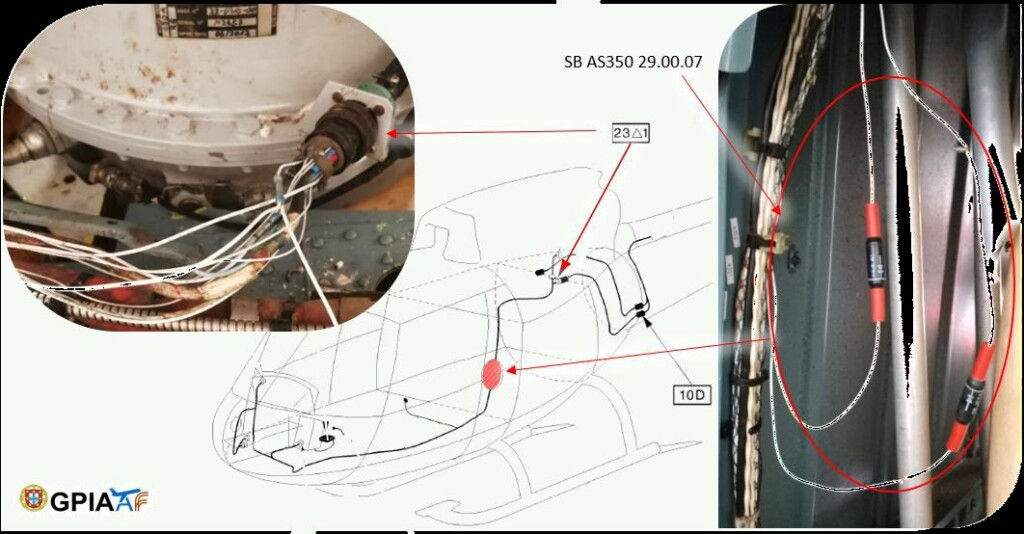 Airbus Helicopters AS350B3 Hydraulic System SB 29.00.07 Wiring (Credit: GPIAAF)