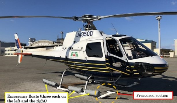 Excel Air Service Airbus Helicopters AS350B3 Écureuil JA350D (Credit:  via JTSB)