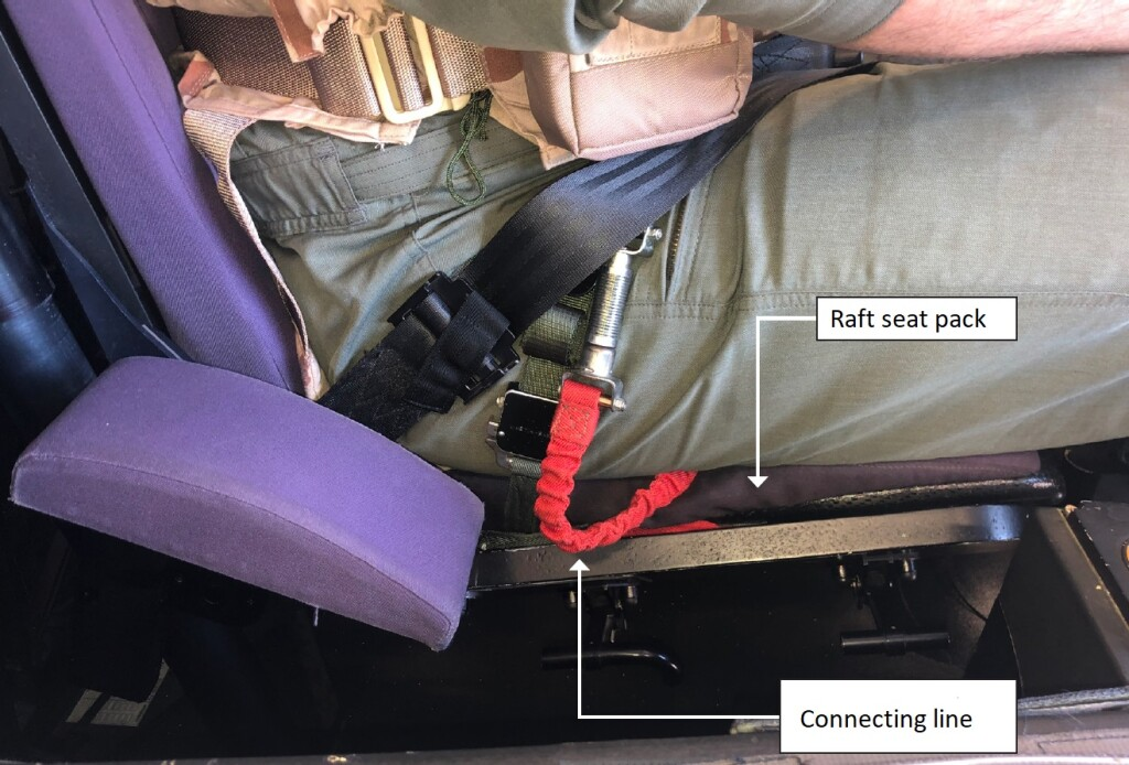 Pilot Raft Seat Pack and Connecting Line (Credit: DSB)
