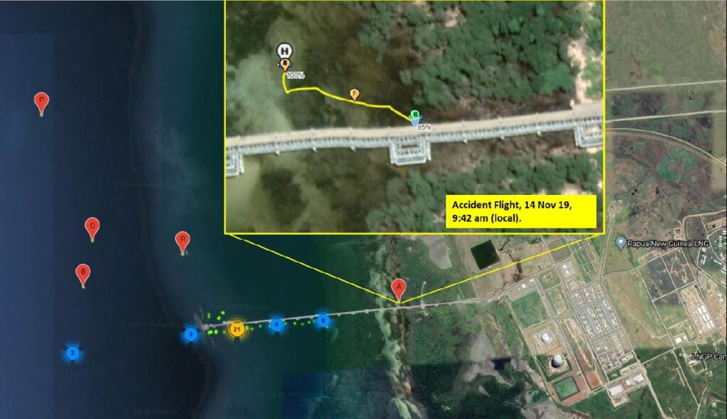 Operating Location at Exxon Mobile  LNG Terminal near Port Moresby (Credit: AIC PNG)