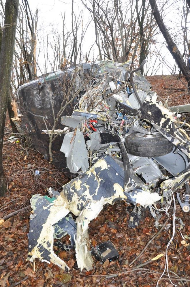 Wreckage of Agusta A109A II N109W (Credit: ANSV)