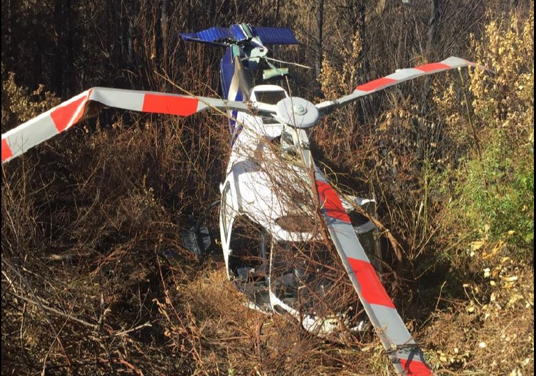 Wreckage of Airbus Helicopters AS350BA / FX2 ZK-HEX of Reid Helicopters Nelson (Credit: NZ TAIC)