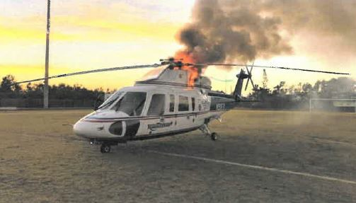 Rotor Brake Fire Trauma Star S-76A++ Air Ambulance N911FK (Credit: via NTSB)