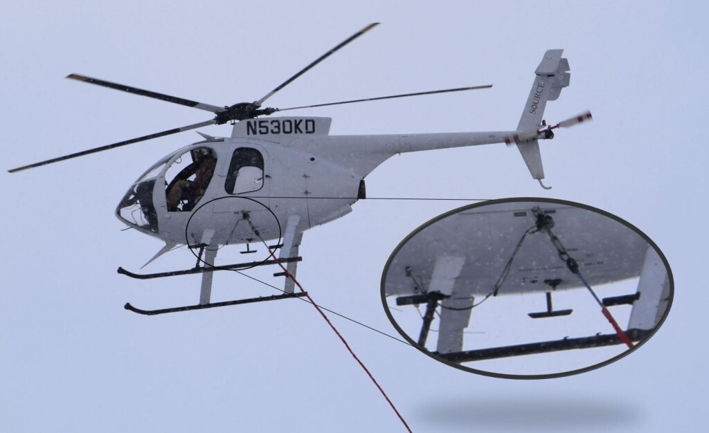 Rogers Helicopters MD 530F (369FF) N530KD Side Pull Hook (Credit: via NTSB)
