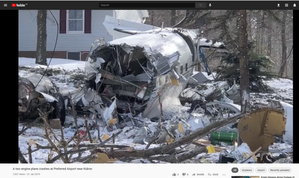 Video of Accident Site: DC-3 TP N467KS, Kidron, OH (Credit: Mike Schenk)