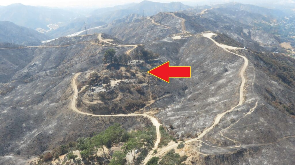 Site of Residential Property After Fire - LAFD AW139 N304FD LOC-I (Credit: LAFD via NTSB)